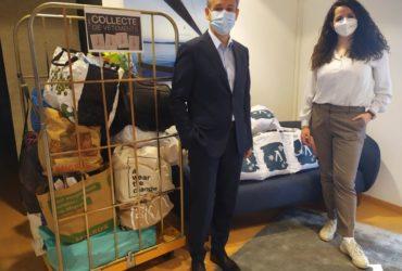 Antaes collecte des vêtements pour Caritas