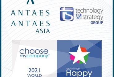 Antaes obtient le label HappyIndex ® At Work 2021 World